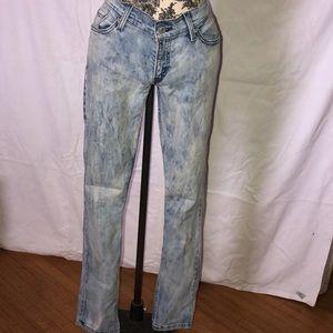 Levi's   acid wash skinny jeans 9